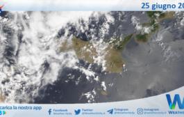 Sicilia: immagine satellitare Nasa di venerdì 25 giugno 2021