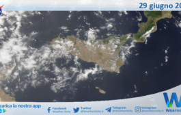 Sicilia: immagine satellitare Nasa di martedì 29 giugno 2021