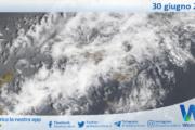 Sicilia: immagine satellitare Nasa di mercoledì 30 giugno 2021