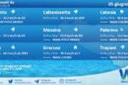 Sicilia: condizioni meteo-marine previste per sabato 05 giugno 2021