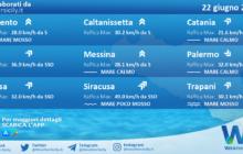 Sicilia: condizioni meteo-marine previste per martedì 22 giugno 2021