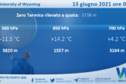 Sicilia: Radiosondaggio Trapani Birgi di domenica 13 giugno 2021 ore 00:00