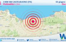 Sicilia: scossa di terremoto magnitudo 3.1 nei pressi di Castelbuono (PA)