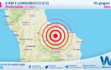 Sicilia: scossa di terremoto magnitudo 3.4 nei pressi di Longobucco (CS)