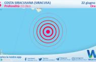 Sicilia: scossa di terremoto magnitudo 2.5 nei pressi di Costa Siracusana (Siracusa)