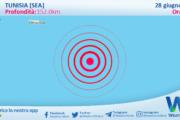 Sicilia: scossa di terremoto magnitudo 2.7 nei pressi di Tunisia [Sea]