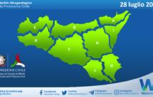 Sicilia: avviso rischio idrogeologico per mercoledì 28 luglio 2021