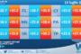 Temperature previste per mercoledì 14 luglio 2021 in Sicilia