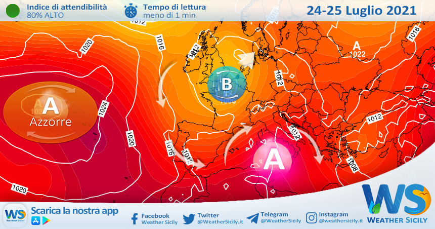 L'anticiclone africano abbraccia la Sicilia nel weekend: caldo in netto aumento!