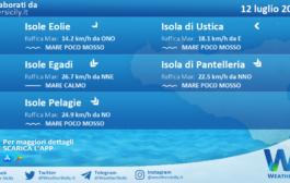 Sicilia, isole minori: condizioni meteo-marine previste per lunedì 12 luglio 2021