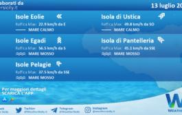 Sicilia, isole minori: condizioni meteo-marine previste per martedì 13 luglio 2021