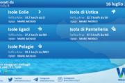 Sicilia, isole minori: condizioni meteo-marine previste per venerdì 16 luglio 2021