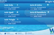Sicilia, isole minori: condizioni meteo-marine previste per giovedì 29 luglio 2021