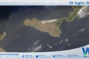 Sicilia: immagine satellitare Nasa di giovedì 01 luglio 2021