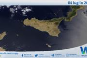Sicilia: immagine satellitare Nasa di domenica 04 luglio 2021