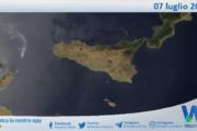 Sicilia: immagine satellitare Nasa di mercoledì 07 luglio 2021