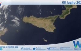 Sicilia: immagine satellitare Nasa di giovedì 08 luglio 2021