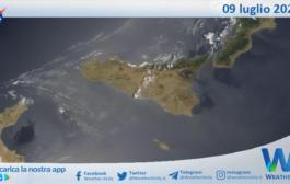Sicilia: immagine satellitare Nasa di venerdì 09 luglio 2021