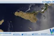 Sicilia: immagine satellitare Nasa di domenica 11 luglio 2021