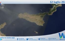 Sicilia: immagine satellitare Nasa di lunedì 12 luglio 2021