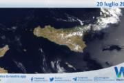 Sicilia: immagine satellitare Nasa di martedì 20 luglio 2021