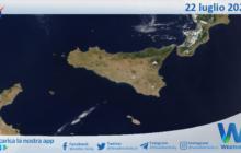 Sicilia: immagine satellitare Nasa di giovedì 22 luglio 2021