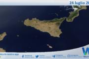 Sicilia: immagine satellitare Nasa di sabato 24 luglio 2021