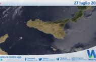 Sicilia: immagine satellitare Nasa di martedì 27 luglio 2021