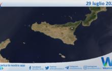 Sicilia: immagine satellitare Nasa di giovedì 29 luglio 2021