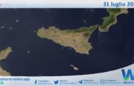 Sicilia: immagine satellitare Nasa di sabato 31 luglio 2021