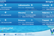 Sicilia: condizioni meteo-marine previste per martedì 06 luglio 2021
