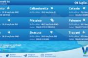 Sicilia: condizioni meteo-marine previste per venerdì 09 luglio 2021