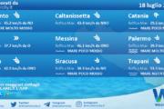 Sicilia: condizioni meteo-marine previste per domenica 18 luglio 2021