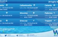 Sicilia: condizioni meteo-marine previste per sabato 24 luglio 2021