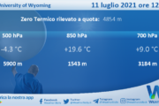 Sicilia: Radiosondaggio Trapani Birgi di domenica 11 luglio 2021 ore 12:00