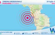Sicilia: scossa di terremoto magnitudo 3.9 nel Tirreno Meridionale (MARE)