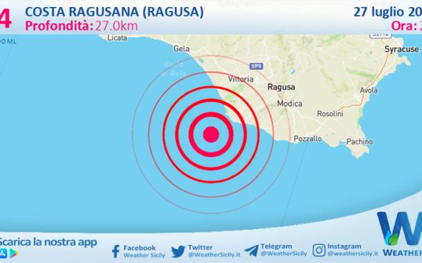 Sicilia: scossa di terremoto magnitudo 3.4 nei pressi di Costa Ragusana (Ragusa)