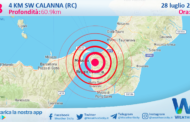 Sicilia: scossa di terremoto magnitudo 2.8 nei pressi di Calanna (RC)