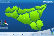 Sicilia: avviso rischio idrogeologico per lunedì 30 agosto 2021