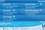 Sicilia, isole minori: condizioni meteo-marine previste per domenica 08 agosto 2021