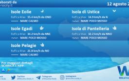 Sicilia, isole minori: condizioni meteo-marine previste per giovedì 12 agosto 2021