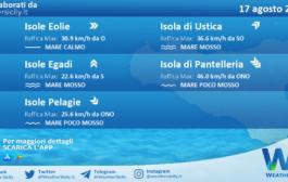 Sicilia, isole minori: condizioni meteo-marine previste per martedì 17 agosto 2021