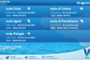 Sicilia, isole minori: condizioni meteo-marine previste per mercoledì 18 agosto 2021