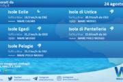 Sicilia, isole minori: condizioni meteo-marine previste per martedì 24 agosto 2021