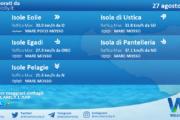 Sicilia, isole minori: condizioni meteo-marine previste per venerdì 27 agosto 2021