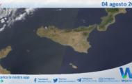 Sicilia: immagine satellitare Nasa di mercoledì 04 agosto 2021