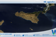 Sicilia: immagine satellitare Nasa di venerdì 06 agosto 2021