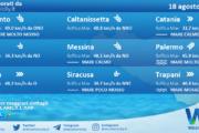Sicilia: condizioni meteo-marine previste per mercoledì 18 agosto 2021
