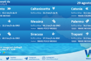 Sicilia: condizioni meteo-marine previste per domenica 29 agosto 2021