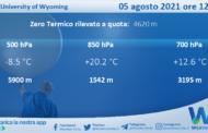 Sicilia: Radiosondaggio Trapani Birgi di giovedì 05 agosto 2021 ore 12:00